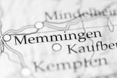 Memmingen. Deutschland auf der Karte, Nahaufnahme