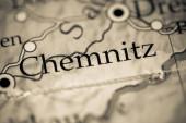 Fotografie Chemnitz. Deutschland auf einer geografischen Karte