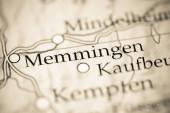 Memmingen. Deutschland auf einer geografischen Karte