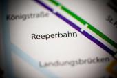 Fotografie Reeperbahn. Karte der Hamburger Metro.