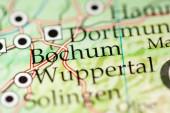 Bochum. Deutschland auf der Karte, Nahaufnahme