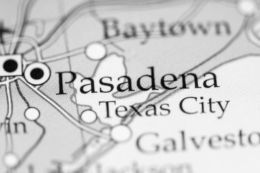 Pasadena, USA on the geography map