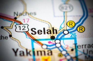 Selah. Washington State on a map.