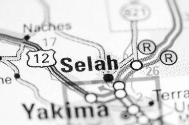 Selah. Washington State on the map.