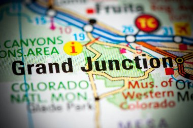 Grand Junction. Colorado. USA on a map