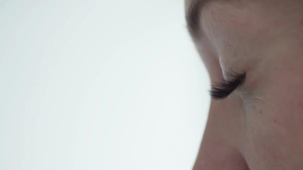 Detail oči. Vrozená řasy