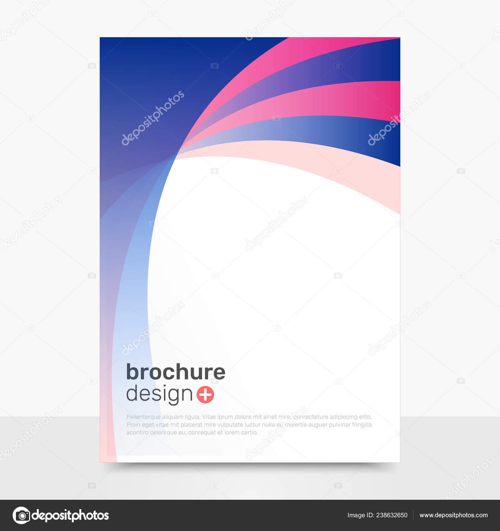 450310806b Diseño Folleto Vector Abstracto Vector Creativo Folleto Maqueta Plantillas  Folleto — Vector de stock