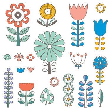 """Картина, постер, плакат, фотообои """"linear flowers in scandinavian style. summer motive. set."""", артикул 279036196"""