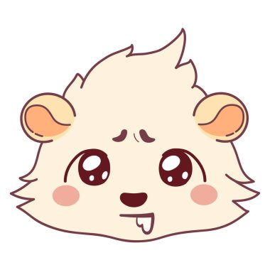 Funny cavy drooling, hungry emoticons - Drooling Face Emoji