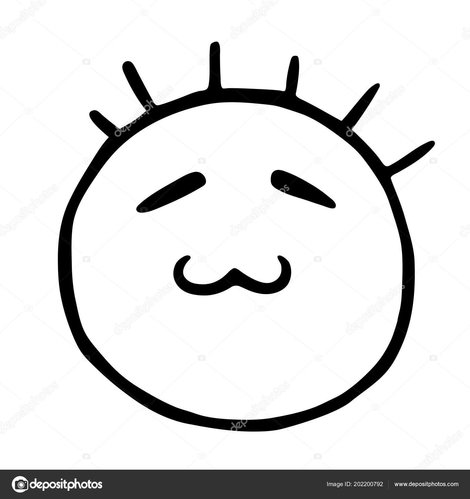 Icono De Línea Emoticons Sonriente Con Los Ojos Cerrados Y Boca De
