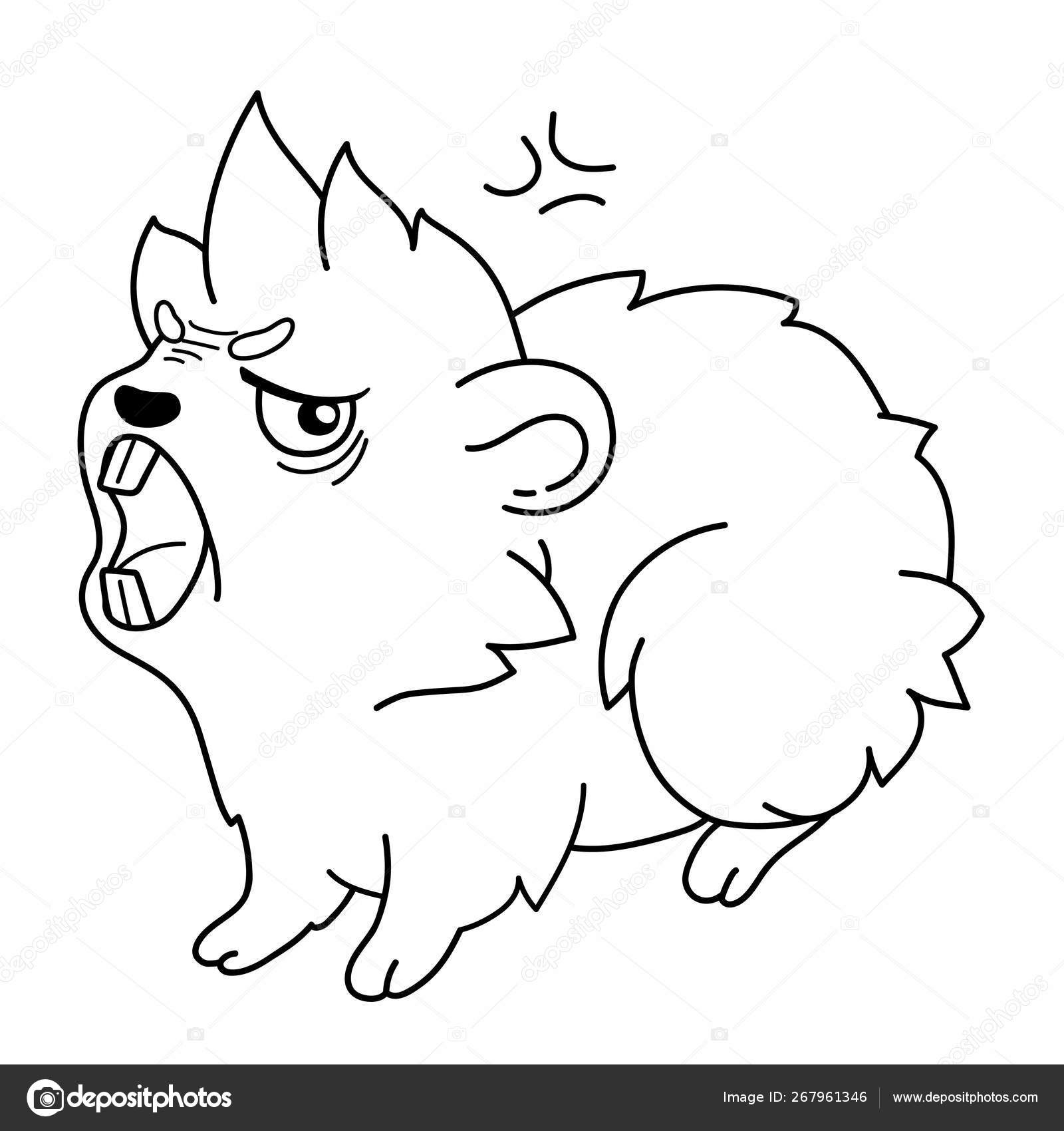 Cavy With Frowning Eyebrows Wants To Bite Emoji Rage Stock Vector C Silva 267961346
