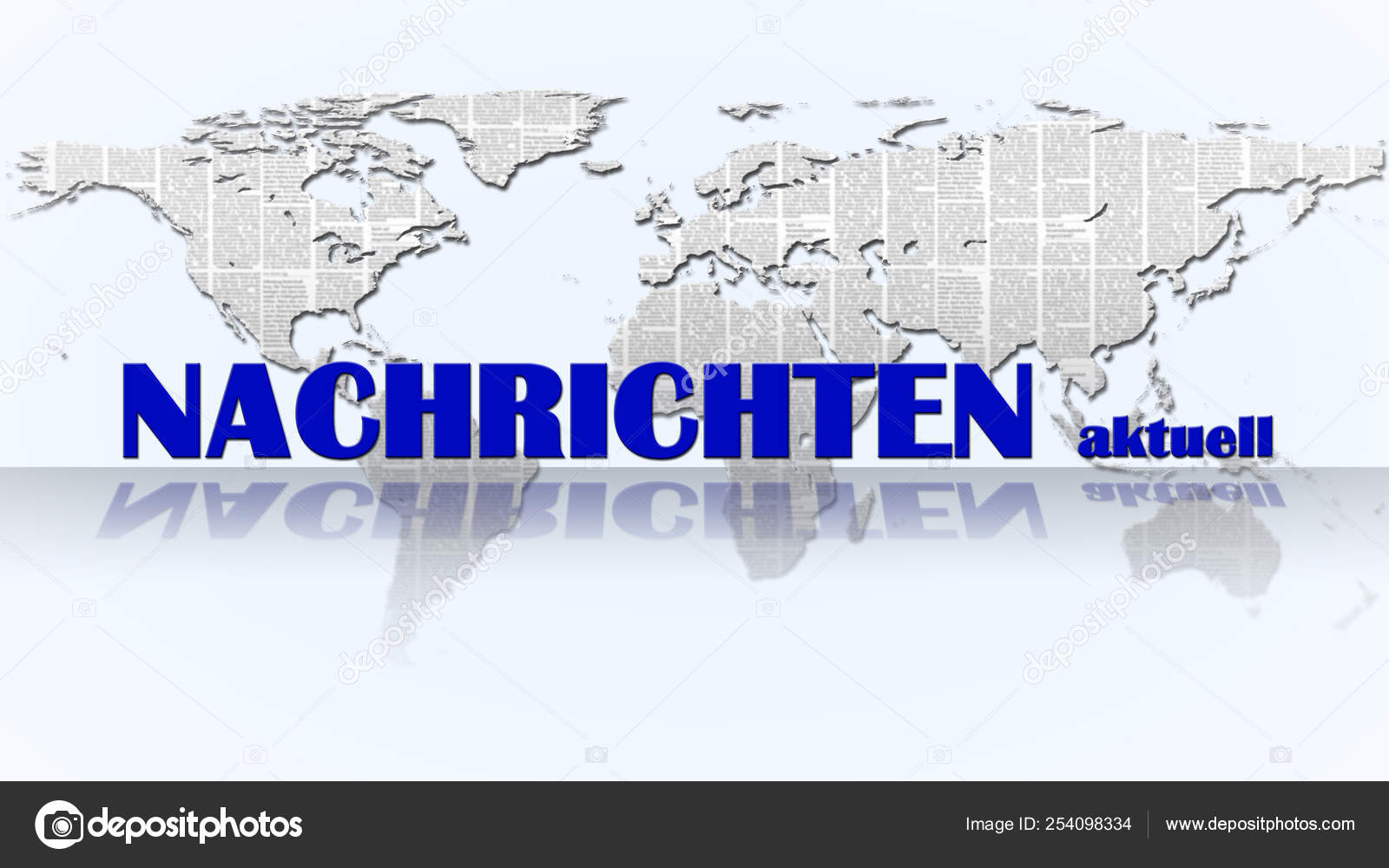 Breaking News German Nachrichten Lettering Front Abstract World Map World Stock Photo C Bestofgreenscreen 254098334