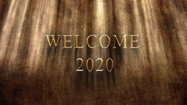 Vítejte 2020 starodávný backround animovaný-prostorové vykreslování
