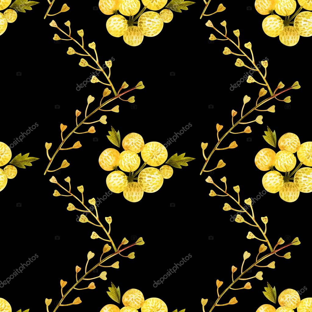Seamless pattern from wild plants