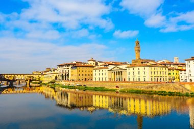 river Arno, Sante Croce tower, Florence, Italy