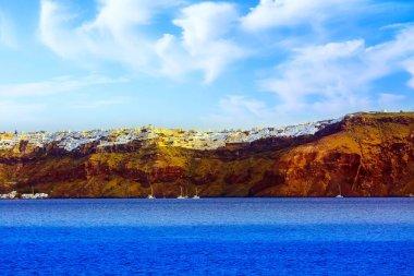 Oia panorama in Santorini island in Greece