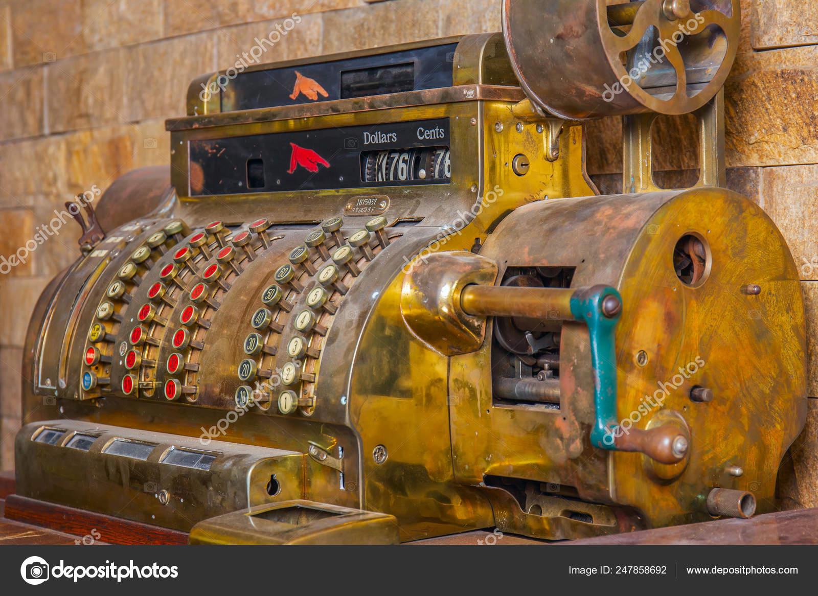 бронзовый античный кассовый аппарат расчета долларах стоит