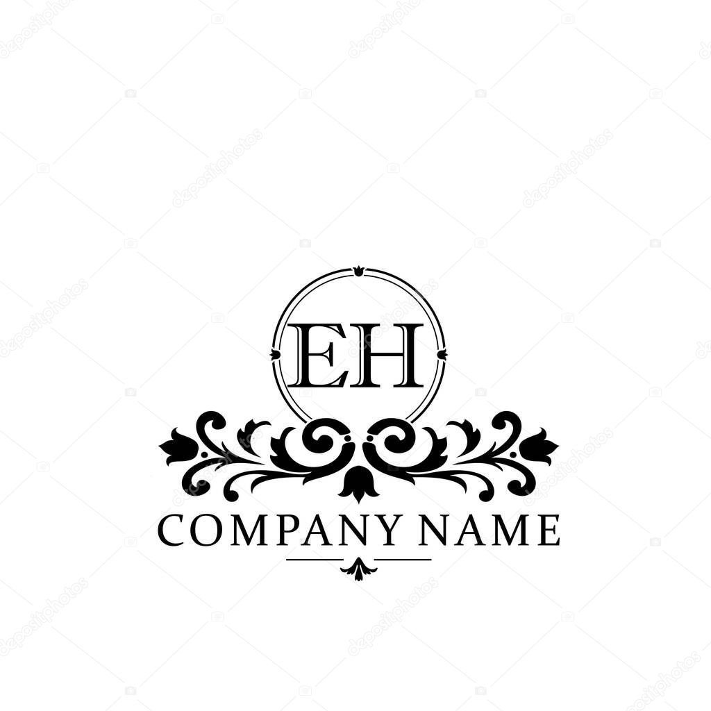 Initial Letter Eh Simple And Elegant Monogram Design Template Logo Premium Vector In Adobe Illustrator Ai Ai Format Encapsulated Postscript Eps Eps Format