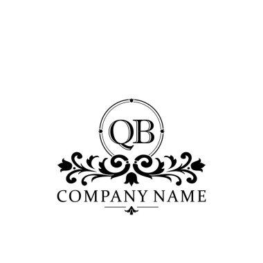 Initial letter QB simple and elegant monogram design template logo