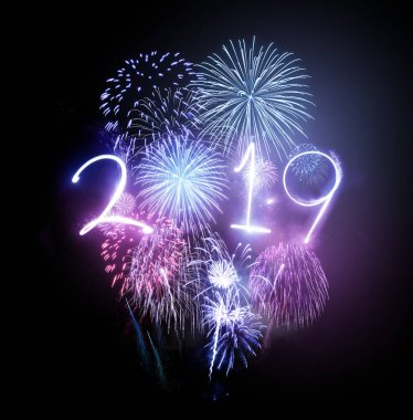 Celebrating the new year 2019 with a dazzling fireworks display.