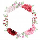 Flower frame vector for logo