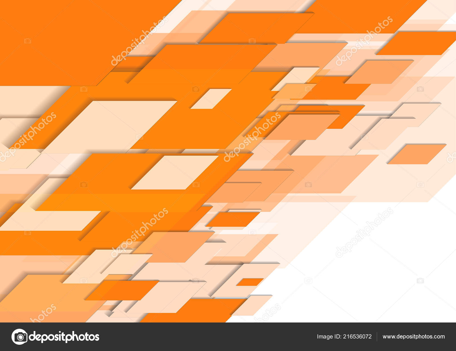 Vector Abstract Orange Parallelograms White Background