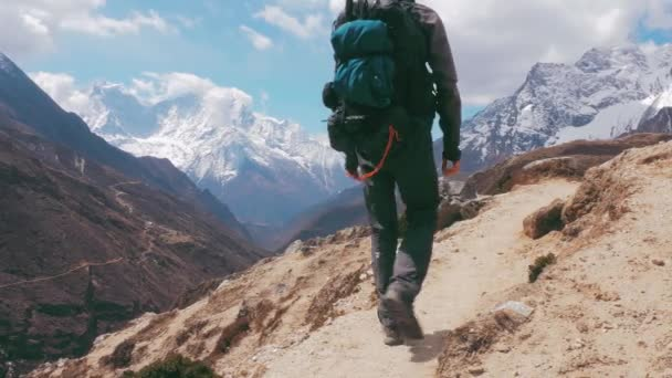 Trekking To Everest Base Camp, way back to Lukla. 4K UHD 3840x2160.
