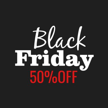 Black Friday lettering vector sign and logo