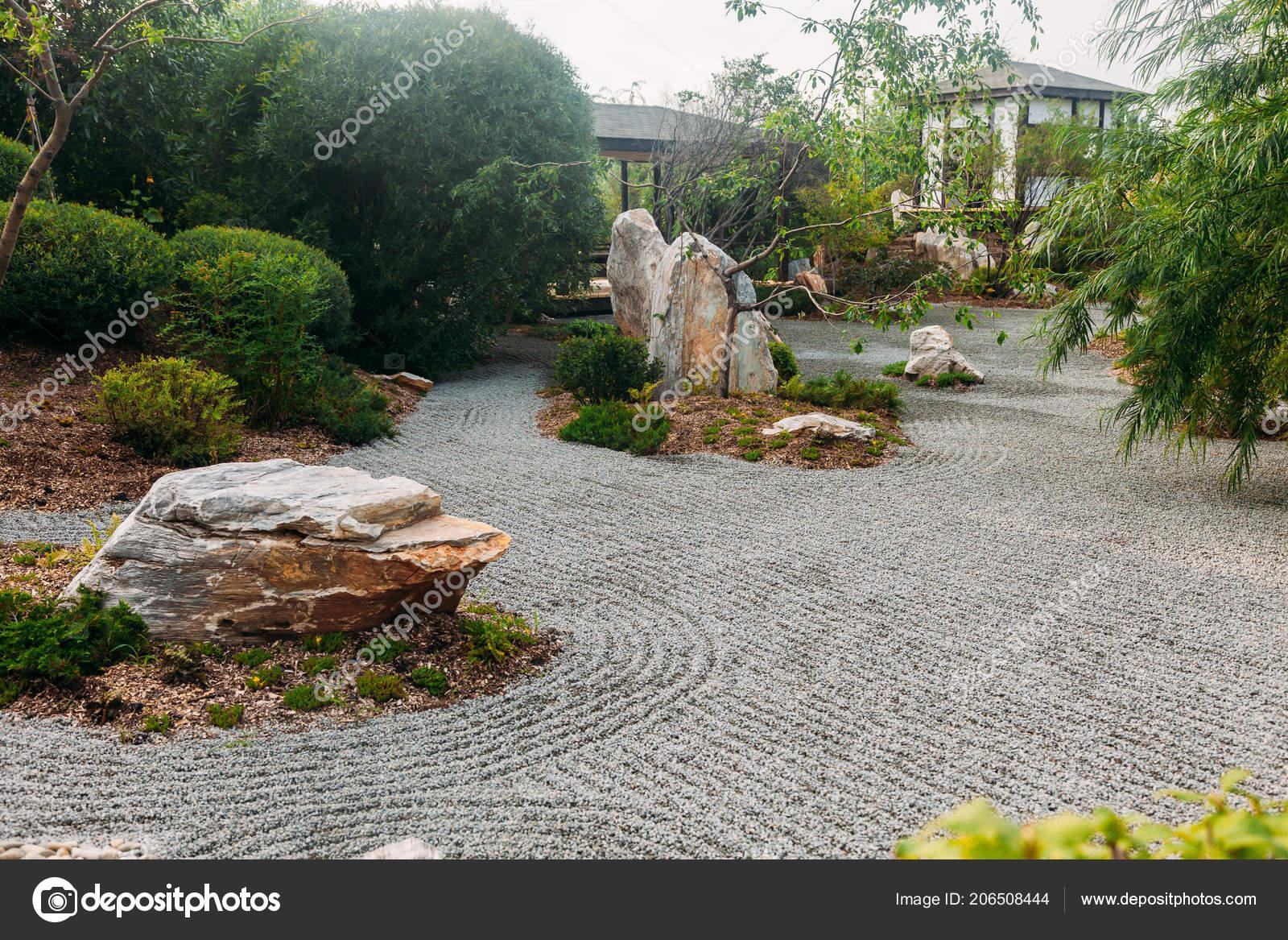 Schöne Japanische Stein Garten Landschaft Stockfoto Logdog7