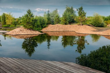 lakeview for chillout outdoor at summer