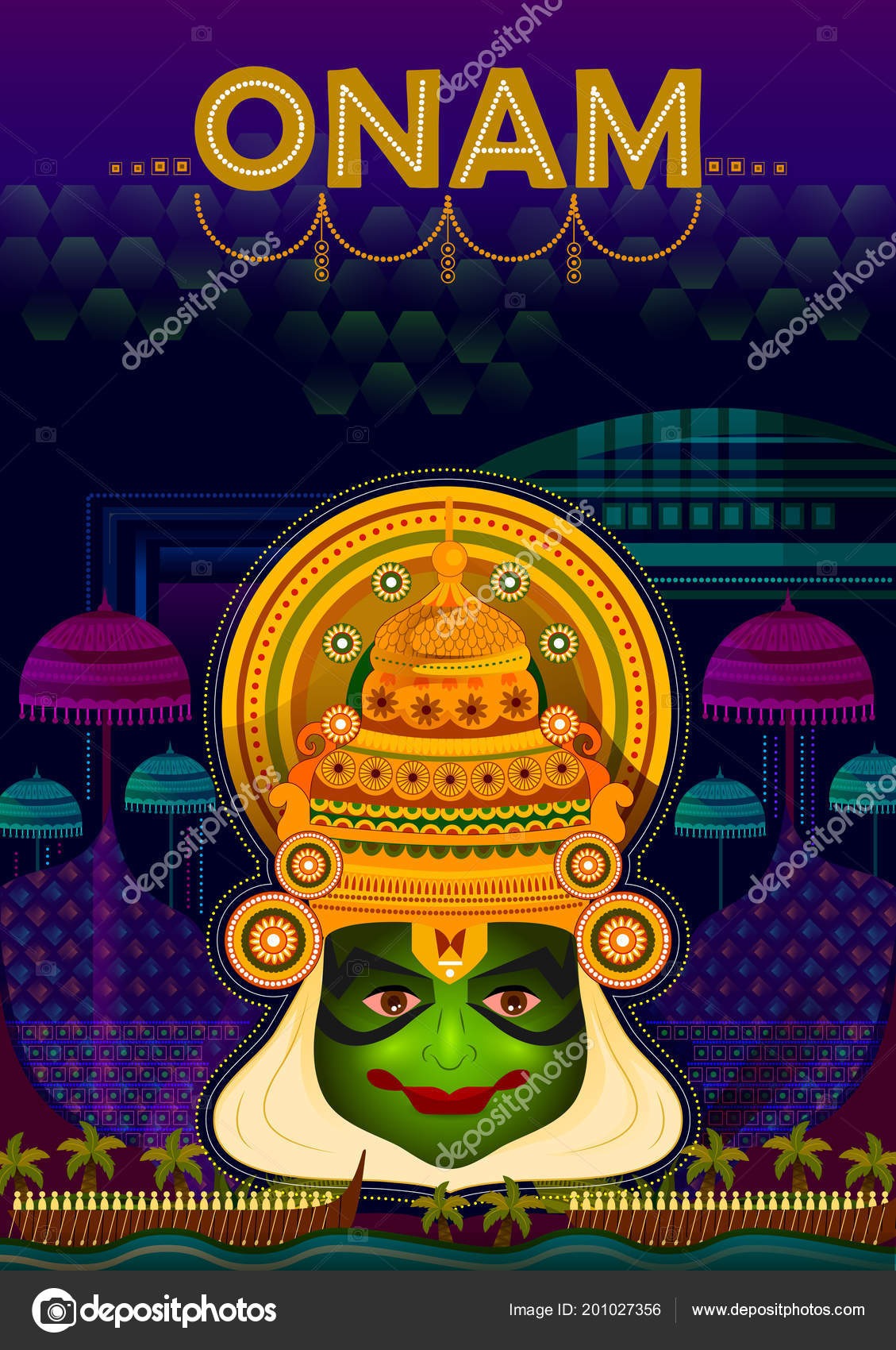 Happy Onam Festival Greetings To Mark The Annual Hindu Festival Of
