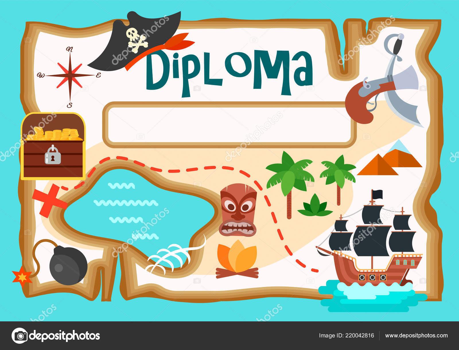 Vettore Mappa Dei Pirati Da Stampare Mappa Isola Del Tesoro
