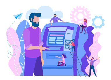 Cashing out money through ATM