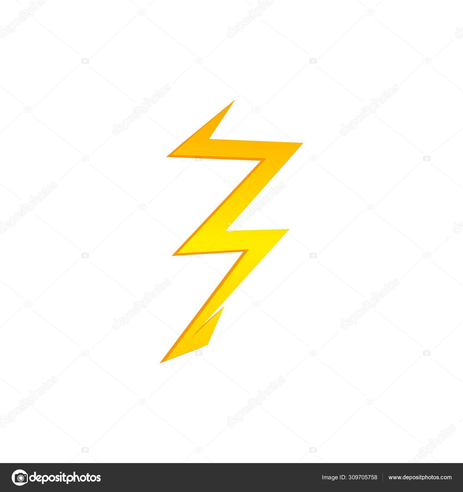 Lighting Thunder Bolt Flash Yellow Icon Set In Flat Style Isolated On White Background Vector Illustration Eps10 Stock Vector C Whilerests 309705758