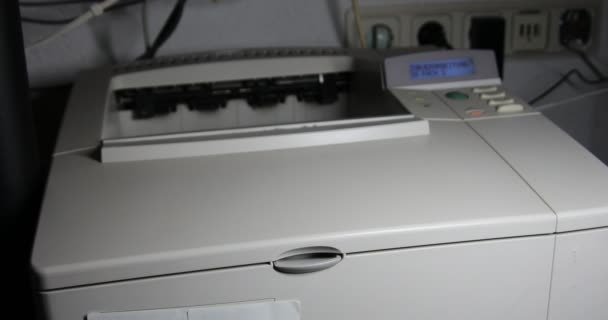 Laser printer prints multiple pages of documents