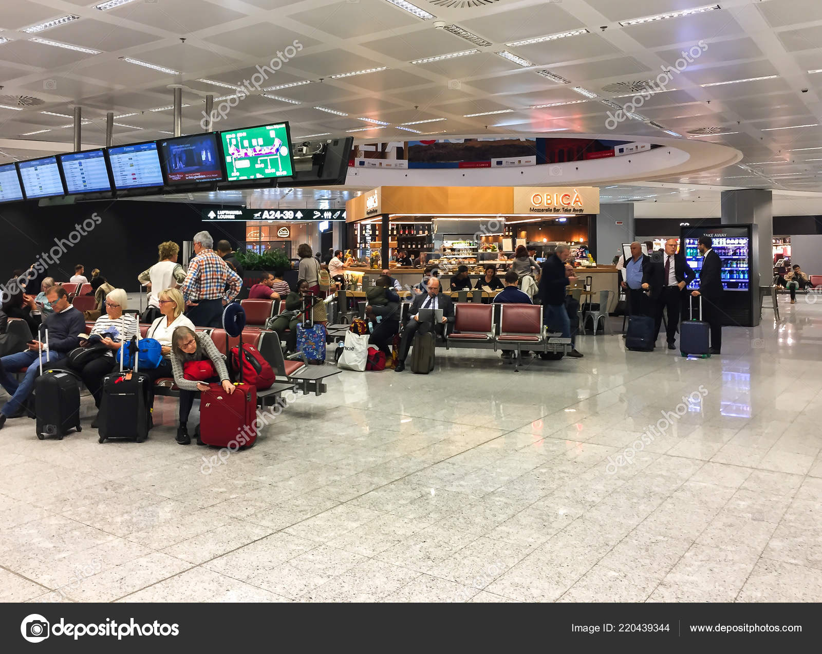 Ferno Milan Malpensa Italy October 2018 Passengers Waiting Room Departure Stock Editorial Photo C Elesi 220439344