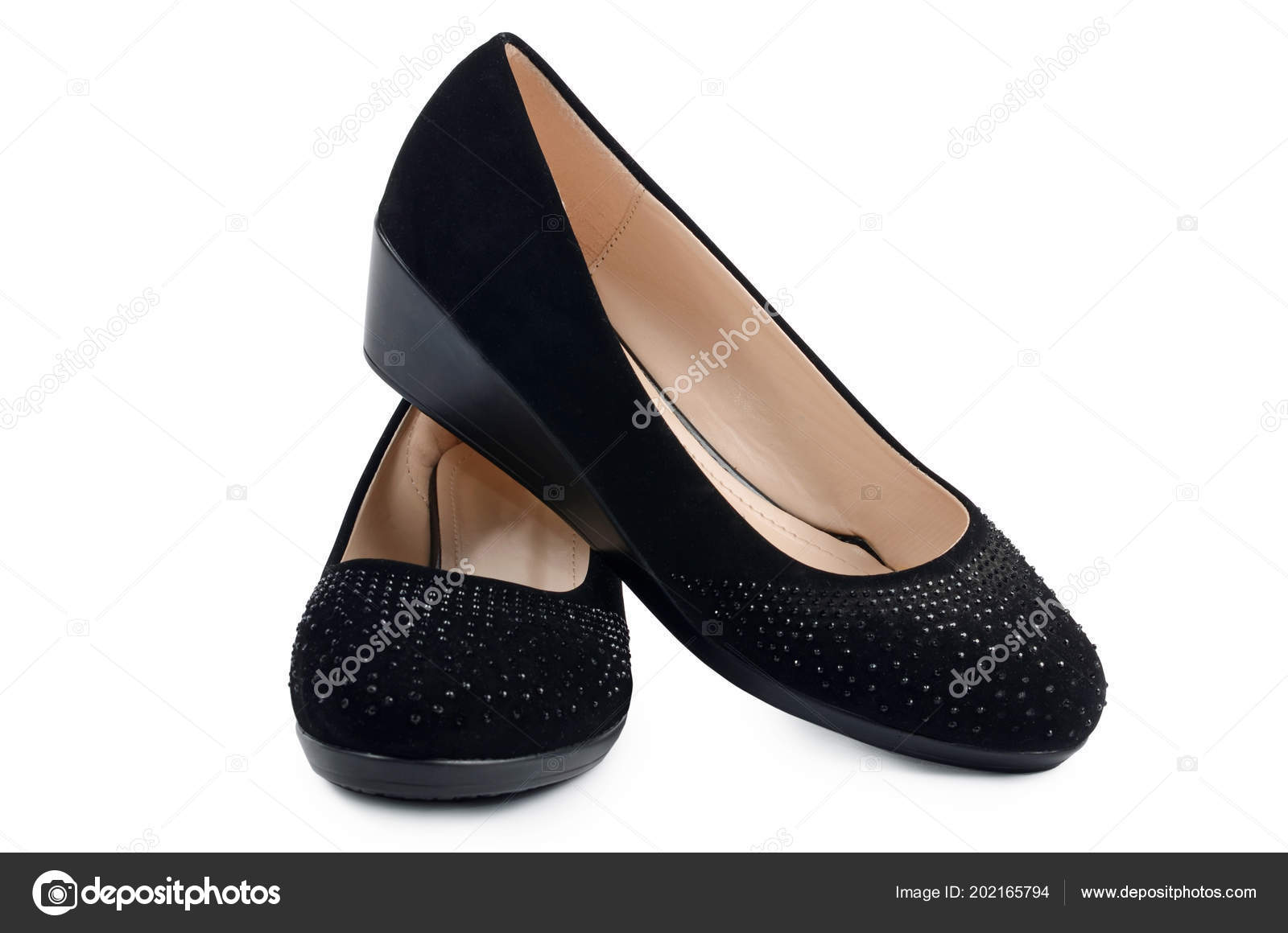 bf8b25e12 Women Black Shoes Isolated White Background — Stock Photo © sveta ...