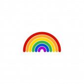 Rainbow logo vector template illustration