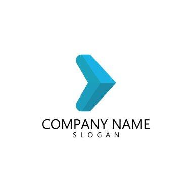 Abstract arrow vector template logo illustration design icon