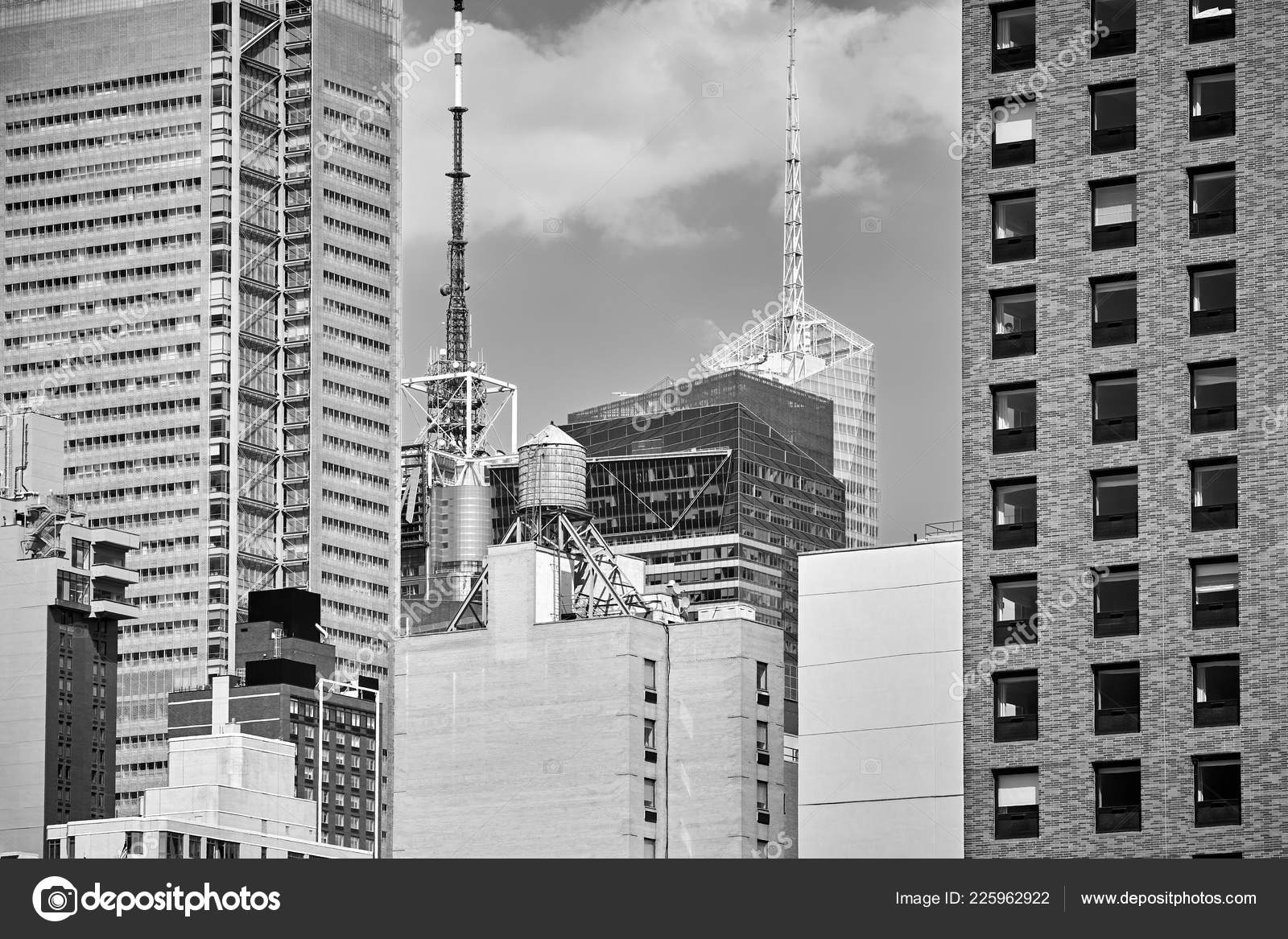 New York Skyline Wallpaper Black And White Black White Picture