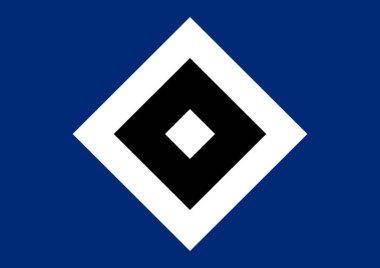 Logo of German football team Hamburger SV - HSV - Germany.
