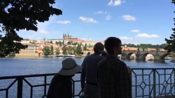 Hradcany hrad a řeku Vltavu v Praze - Česká republika