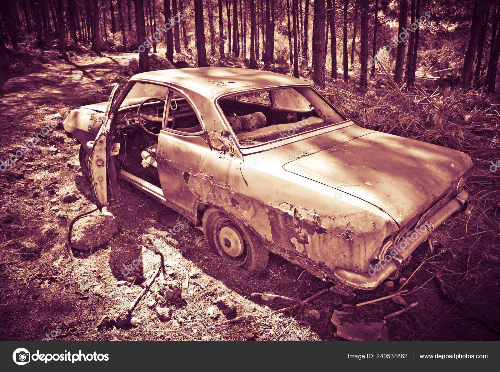 Abandoned Car Photography Forest Stock Editorial Photo C Adempercem 240534862