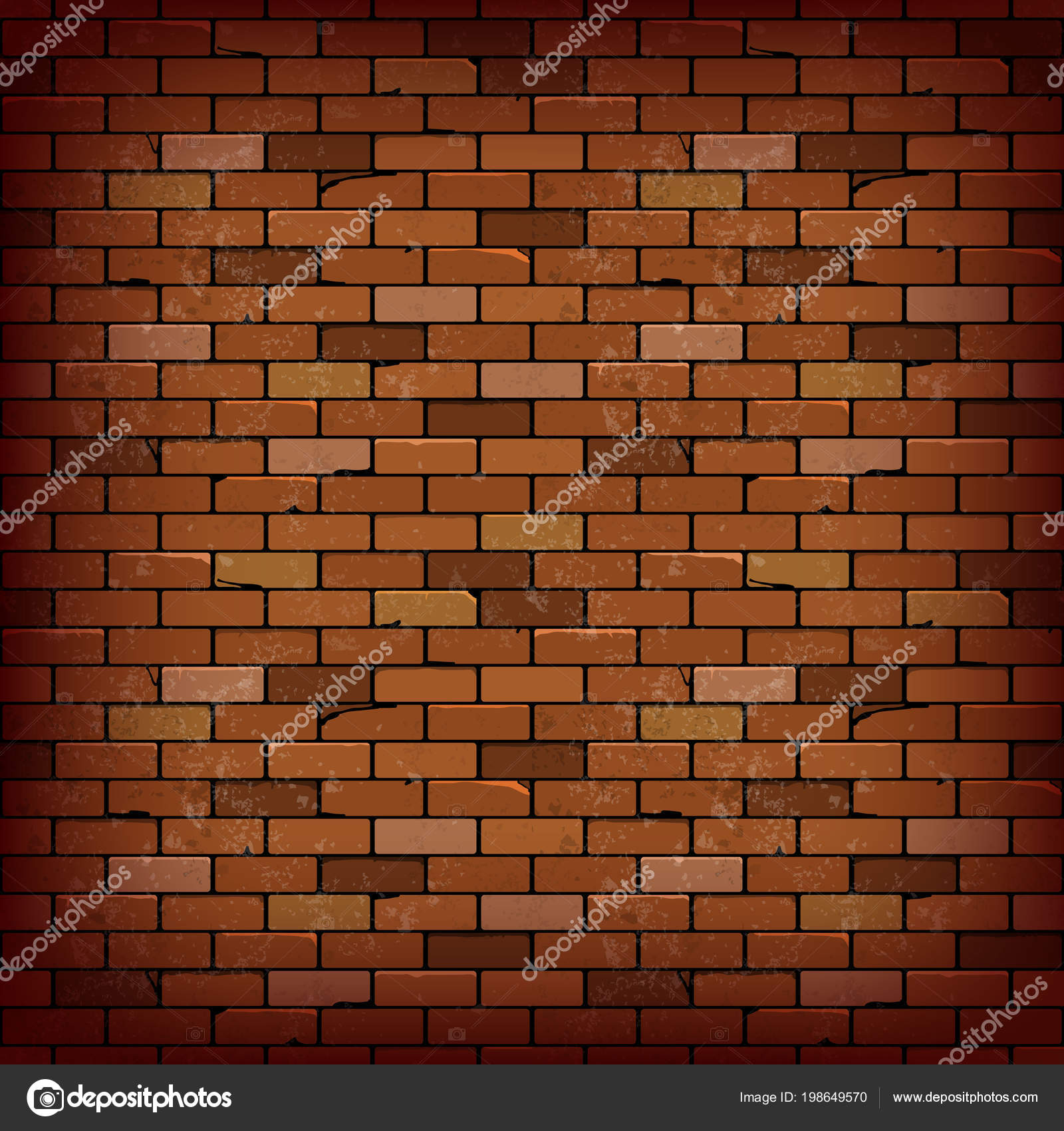 Red Brick Wall Vector Background Illustration