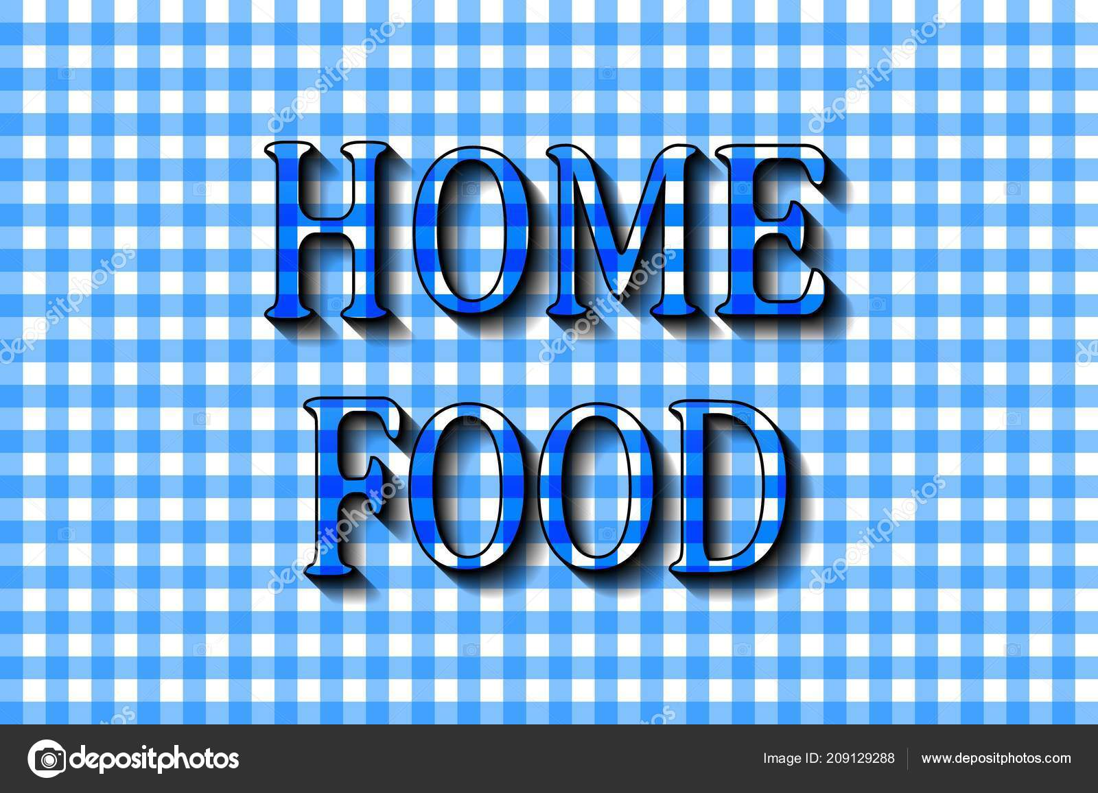 Home food cooking lettering design print web projects banners stickers stock vector