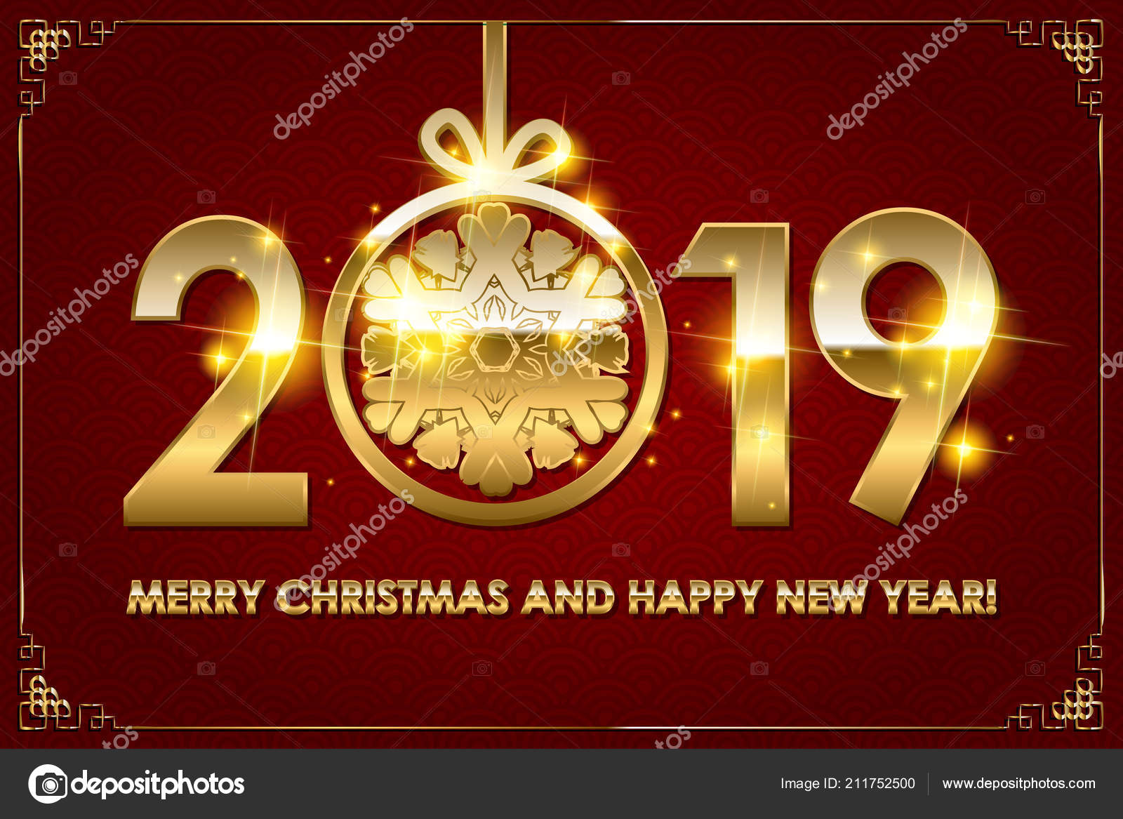 2019 happy new year background for your seasonal flyers and greetings card or christmas themed invitations vector by nastyaaroma2011