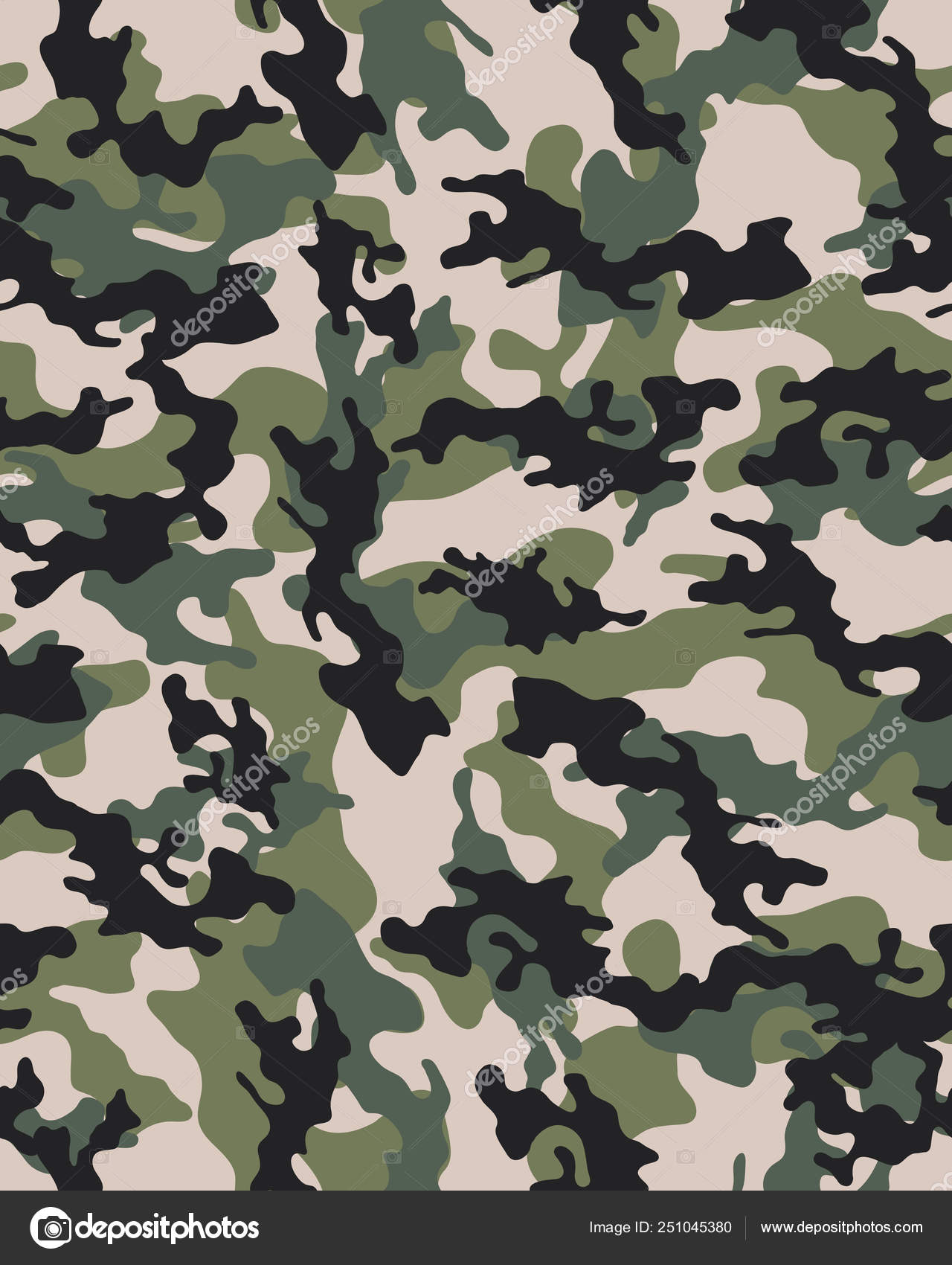 Camouflage Pattern Seamless Army Wallpaper Military Design