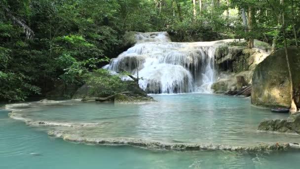 waterfall west of Thailand (Erawan waterfall)