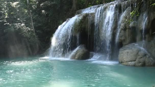 waterfall west of Thailand (Erawan waterfall)