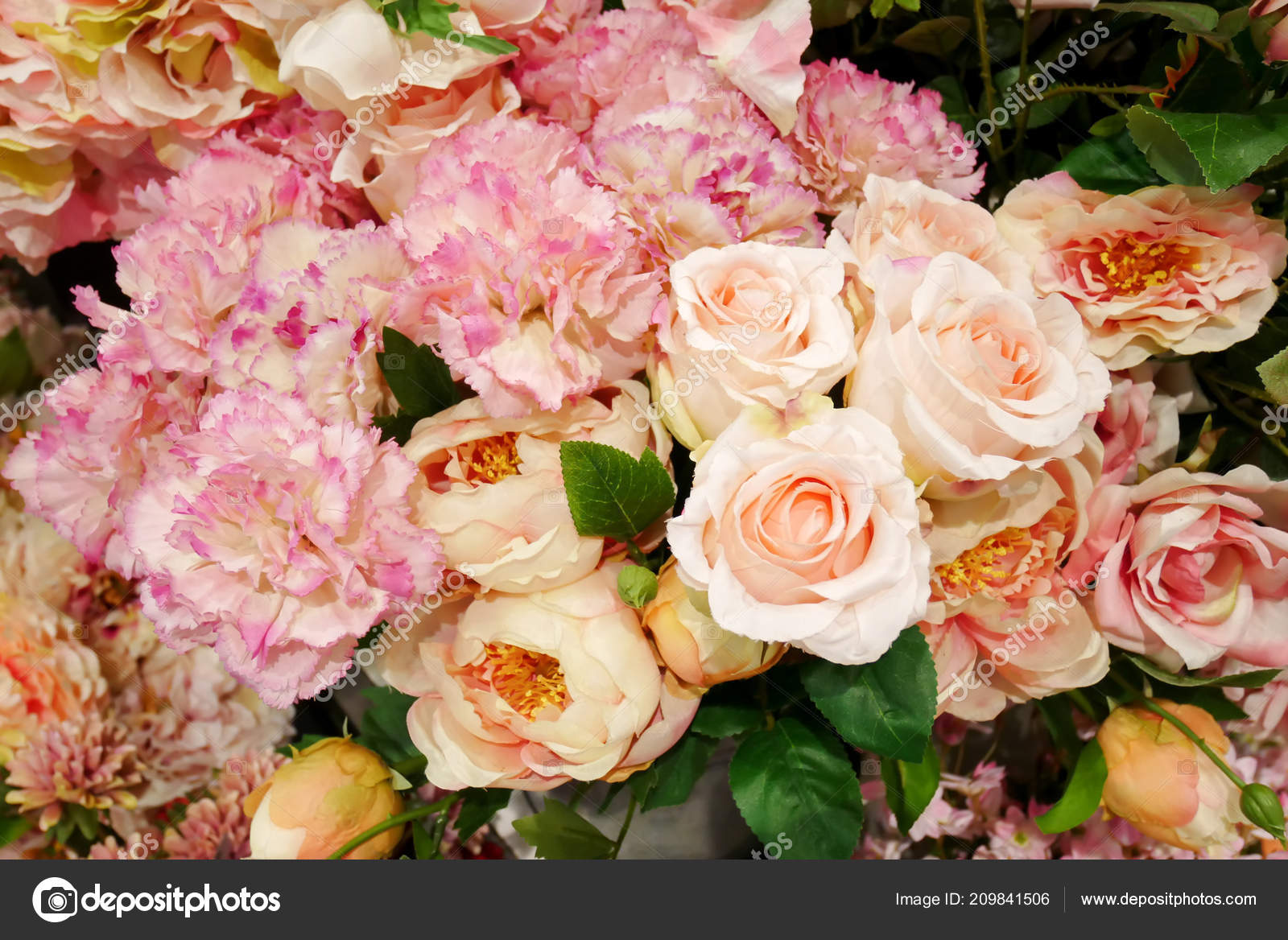 Beautiful Colorful Flowers Wall Background Flowers Made Fabric Stock Photo C Ducksmall 209841506